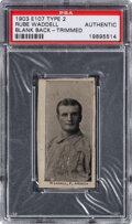 Baseball Cards:Singles (Pre-1930), 1903 E107 Breisch Williams Rube Waddell (Type 2) PSA Authentic - The Only PSA Graded on the Census! ...