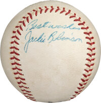 Circa 1955 Jackie Robinson Single Signed Baseball