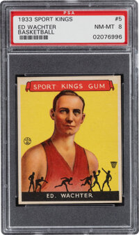 1933 Goudey Sport Kings Ed Watcher #5 PSA NM-MT 8