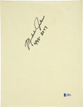 Basketball Collectibles:Others, 1987 Michael Jordan Signed Motley Crue Flyer - With Jordan Phone Number!...