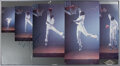 Basketball Collectibles:Others, 1980's Michael Jordan Signed Poster Display with Great Inscription. ...
