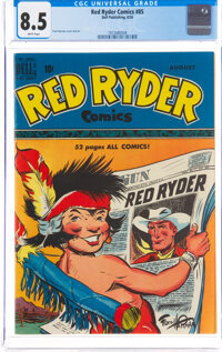 Red Ryder Comics #85 (Dell, 1950) CGC VF+ 8.5 White pages