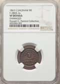 1863 Charles W. Bernacki, Druggist, Civil War Store Card, East Saginaw, Michigan, Fuld-280A-2a, R.5 -- Damaged -- NGC De...