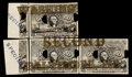 Five Mating 50¢ Baltimore-Washington Experimentals Milton 2E50F.2 PMG About Uncirculated 50 EPQ, 2 POCs, with conte...