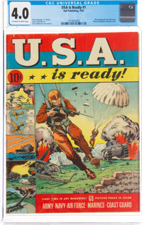 U.S.A. Is Ready #1 (Dell, 1941) CGC VG 4.0 Off-white to white pages
