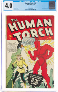 The Human Torch #34 (Timely, 1949) CGC VG 4.0 White pages