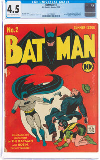 Batman #2 (DC, 1940) CGC VG+ 4.5 Cream to off-white pages