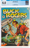 Golden Age (1938-1955):Science Fiction, Buck Rogers #1 (Eastern Color, 1940) CGC VG 4.0 Cream to off-white pages....