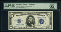 Small Size:Silver Certificates, Fr. 1651 $5 1934A Silver Certificate. PMG Gem Uncirculated 65 EPQ.. ...