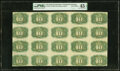 Inverted Overprint Error Complete Sheet Fr. 1244 Milton 2R10.1i Second Issue Uncut Sheet of 20 PMG Choice Extremely Fine...