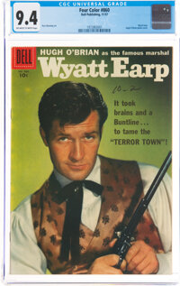 Four Color #860 Wyatt Earp (Dell, 1957) CGC NM 9.4 Off-white to white pages
