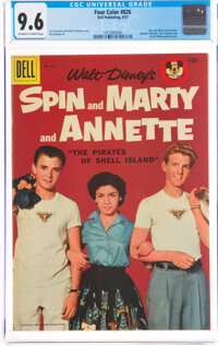 Four Color #826 Spin and Marty and Annette (Dell, 1957) CGC NM+ 9.6 Off-white to white pages