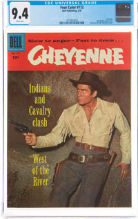Four Color #772 Cheyenne (Dell, 1957) CGC NM 9.4 White pages