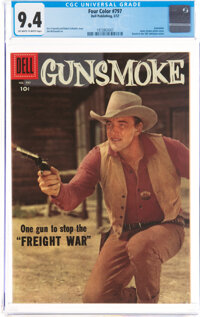 Four Color #797 Gunsmoke (Dell, 1957) CGC NM 9.4 Off-white to white pages