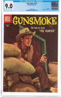 Silver Age (1956-1969):Western, Four Color #720 Gunsmoke (Dell, 1956) CGC VF/NM 9.0 Off-white to white pages....