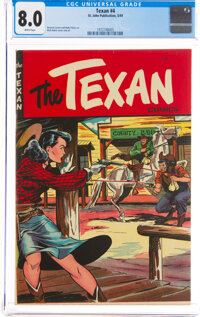 The Texan #4 (St. John, 1949) CGC VF 8.0 White pages