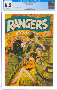Rangers Comics #16 (Fiction House, 1944) CGC FN+ 6.5 Off-white pages