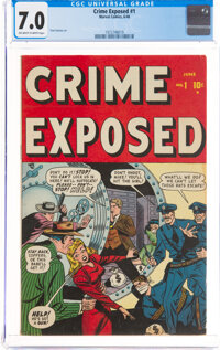 Crime Exposed #1 (Marvel, 1948) CGC FN/VF 7.0 Off-white to white pages