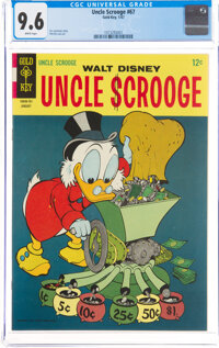 Uncle Scrooge #67 (Gold Key, 1967) CGC NM+ 9.6 White pages