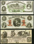 Obsoletes By State:Mixed States, East Haddam, CT- Bank of New-England $1 18__ Remainder Crisp Uncirculated;. Norwich, CT- Shetucket Bank $1 Jan. 1, 1... (Total: 3 notes)