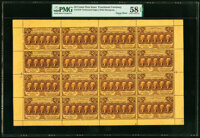 Fr. 1279 Milton 1R25.3c 25¢ First Issue Uncut Sheet of 16 PMG Choice About Unc 58 EPQ