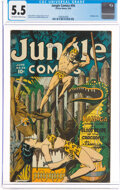 Golden Age (1938-1955):Adventure, Jungle Comics #54 Eldon Pedigree (Fiction House, 1944) CGC FN- 5.5 Off-white to white pages....