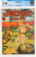 Golden Age (1938-1955):Adventure, Jungle Comics #8 (Fiction House, 1940) CGC FN/VF 7.0 Off-white to white pages....