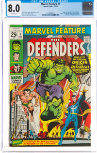 Marvel Feature #1 The Defenders (Marvel, 1971) CGC VF 8.0 White pages