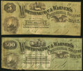 Obsoletes By State:New Hampshire, Concord, NH- Worthington & Warner's Commercial College Bank $5; $500 1865-69 Schingoethe NH-250-5; NH-250-500 Fine.. ... (Total: 2 notes)