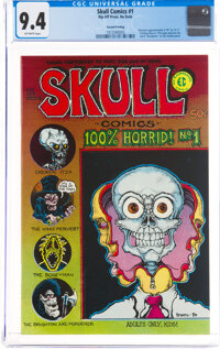 Skull Comics #1 Second Printing (Rip Off Press, No Date) CGC NM 9.4 Off-white pages