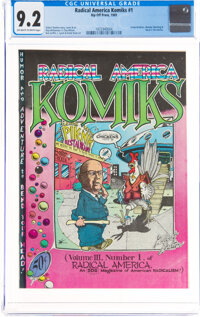 Radical America Komiks #1 (Rip Off Press, 1969) CGC NM- 9.2 Off-white to white pages