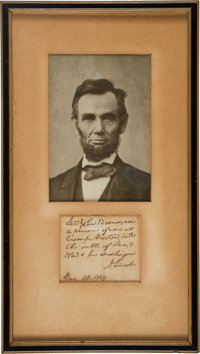 Abraham Lincoln Autograph Note Signed