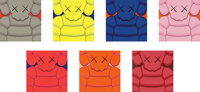 KAWS (b. 1974) What Party, 2020 Seven screenprints in colors on Saunders Waterford hi-white paper