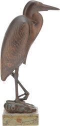 Sculpture, Paul Manship (American, 1885-1966). Goliath Heron, 1932. Bronze with brown patina. 11-1/2 inches (29.2 cm) high on a 1-1...