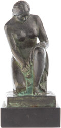 Sculpture, Paul Manship (American, 1885-1966). Susanna, 1946. Bronze with brown and verdigris patina. 5-1/2 inches (14.0 cm) high o...