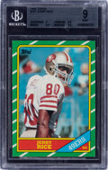 Football Cards:Singles (1970-Now), 1986 Topps Jerry Rice #161 BGS Mint 9....