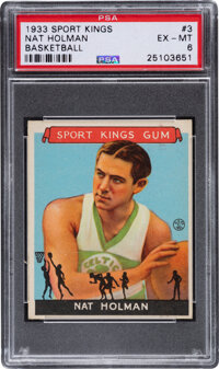 1933 Sport Kings Nat Holman #3 PSA EX-MT 6