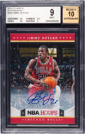 Basketball Cards:Singles (1980-Now), 2012-13 Hoops Autographs Jimmy Butler #249 BGS Mint 9, Auto 10....