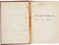 """Baseball Collectibles:Publications, 1912 Christy Mathewson Signed """"Pitching in a Pinch"""" First Edition Book. ..."""