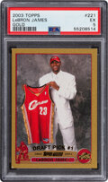 Basketball Cards:Singles (1980-Now), 2003 Topps LeBron James (Gold) #221 PSA EX 5 -#'d 45/99. ...