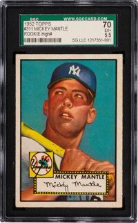 1952 Topps Mickey Mantle #311 SGC 70 EX+ 5.5