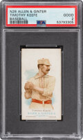 Baseball Cards:Singles (Pre-1930), 1887 N28 Allen & Ginter Timothy Keefe PSA Good 2. ...