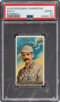 "Baseball Cards:Singles (Pre-1930), 1888 N162 Goodwin ""Champions"" King Kelly PSA Good+ 2.5. ..."