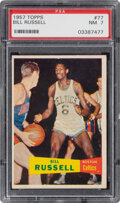 Basketball Cards:Singles (Pre-1970), 1957 Topps Bill Russell #77 PSA NM 7. ...