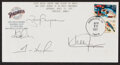 Autographs:Others, 1997 Dan Diego Padres Multi-Signed First Day Cover - Including Gwynn & Hoffman!....