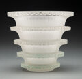 Glass, R. Lalique Frosted Glass Chevreuse Vase, circa 1930. Marks: R. LALIQUE, FRANCE. 6-1/4 inches (16 cm) , M....