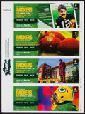 Football Collectibles:Tickets, 2020 Green Bay Packers Full Tickets, Lot of 7....
