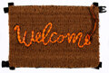 Collectible, Banksy x Love Welcomes. Welcome Mat, 2019. Life vest fabric on fiber doormat. 17 x 24 x 1-1/4 inches (43.2 x 61 x 3.2 cm...