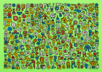 Mr. Doodle (b. 1994) Alien Town, 2020 Screenprint in colors on wove paper 19-5/8 x 27-1/2 inches
