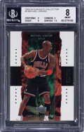 Basketball Cards:Singles (1980-Now), 2003 Exquisite Collection Michael Jordan #3 BGS NM-MT 8 - #'d 5/225. ...